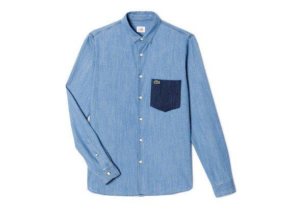 chemise denim lacoste