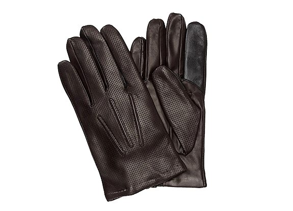gants en cuir marron hugo boss