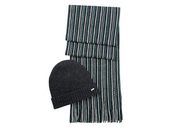 pack bonnet echarpe hugo boss
