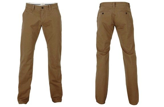 pantalon chino selected marron