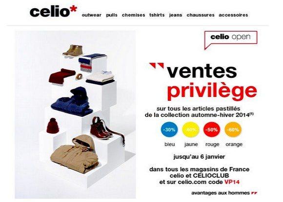 Vente Privée Celio !