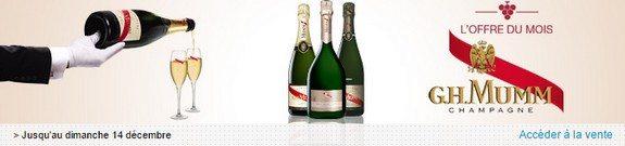 vente privee champagnes GH Mumm