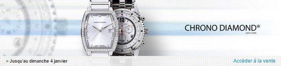 vente privee montres chrono diamond