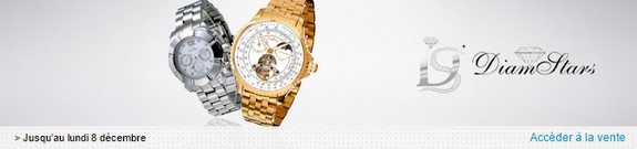 vente privee montres diamstars