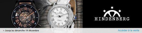 vente privee montres hindenberg