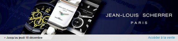 vente privee montres jean louis scherrer