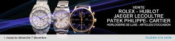 vente privee montres luxe