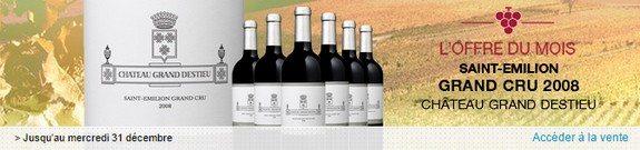 vente privee vin saint emilion 2008