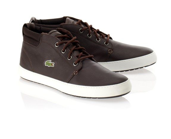 chaussures lacoste marron