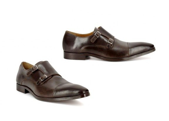chaussures richelieu marron double boucle san marina