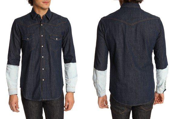 chemise en jean bleu mcq by alexander mc queen
