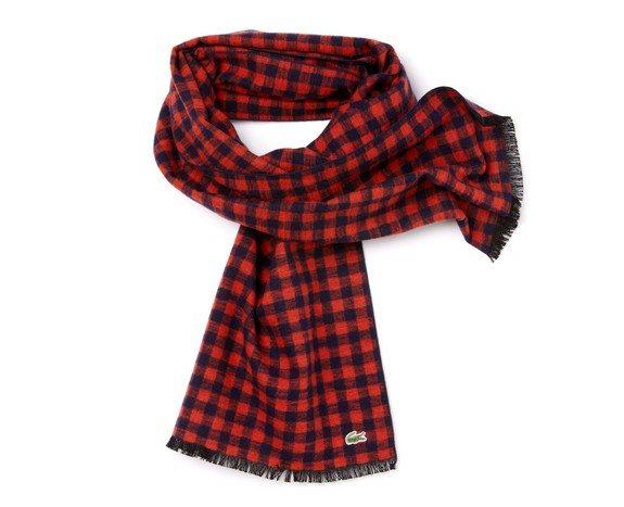 foulard lacoste soie carreaux