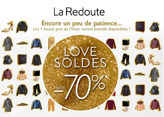 page maintenance soldes hiver 2015 redoute