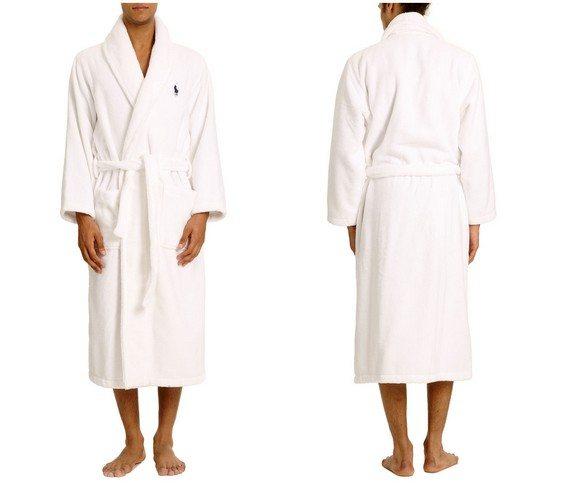 peignoir homme blanc ralph lauren underwear