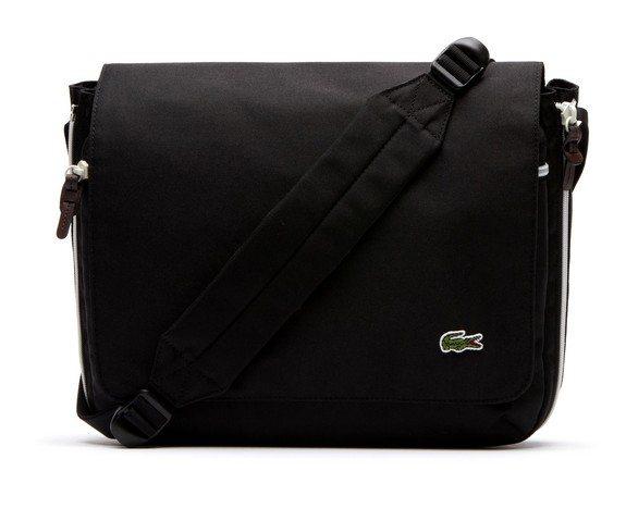 sac lacoste noir messenger backcroc