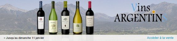 vente privee vins argentins