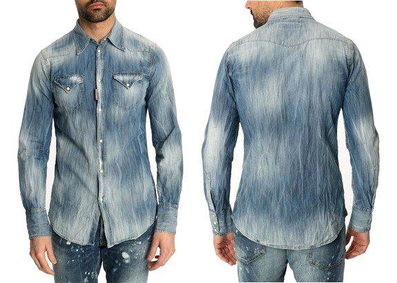 chemise denim dsquared