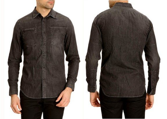chemise denim gris g-star