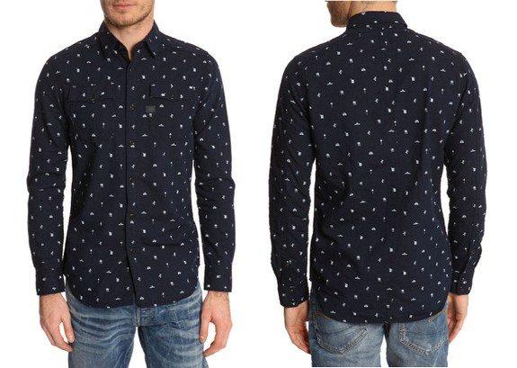 chemise denim imprimee g-star