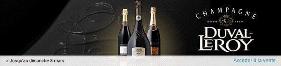 vente privee champagne duval leroy et e michel