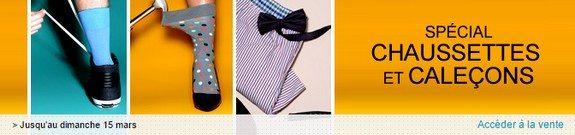 vente privee chaussettes calecons