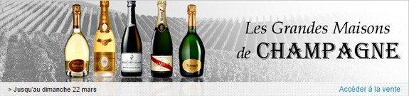 vente privee grandes maisons champagnes