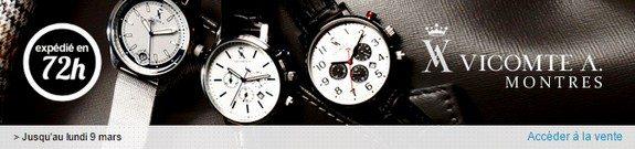 vente privee montres vicomte A.