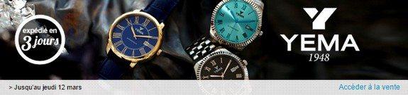 vente privee montres yema
