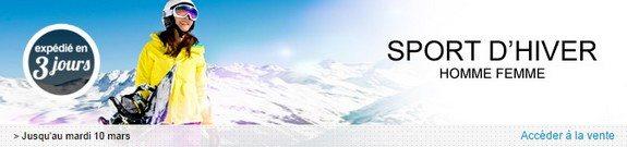 vente privee vetement accessoire mode sport hiver