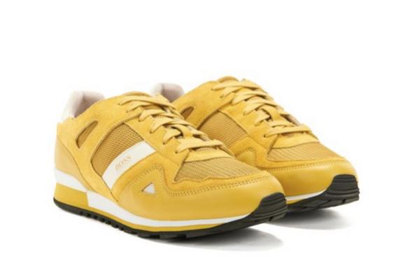 Baskets jaunes Hugo Boss soldes été 2018
