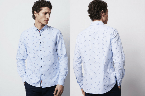 Chemise casual à rayures et motif