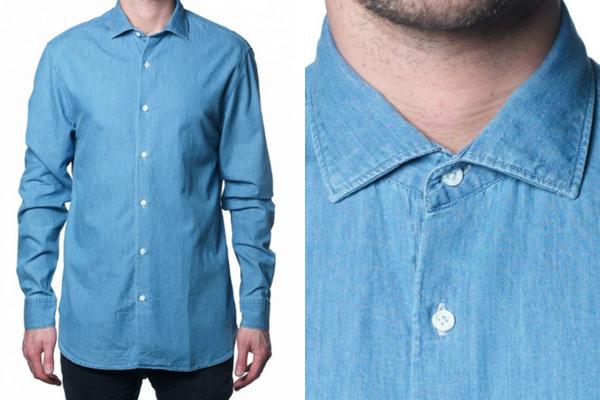 Chemise en denim clair vendue par Atelier Privée durant les ventes privées de l'été 2018