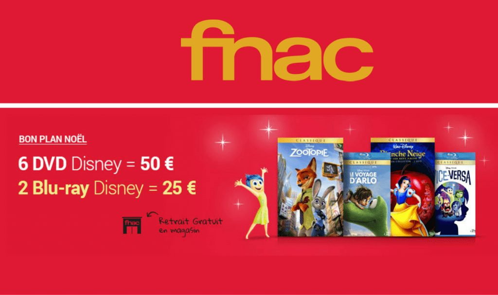 Monsieur-Mode-Fnac DVD Disney en promo de Noël