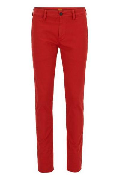 Pantalon chino rouge Hugo Boss soldes été 2018