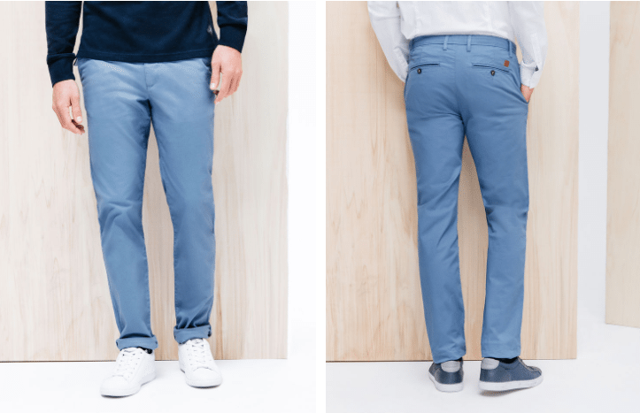 Pantalon chino slim bleu Brice