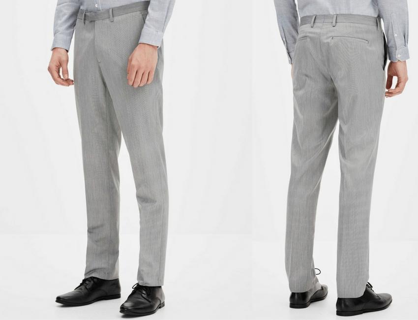 Pantalon de costume slim gris Celio