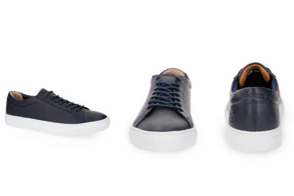 Sneakers bleu marine Lacoste, soldes d'été 2018