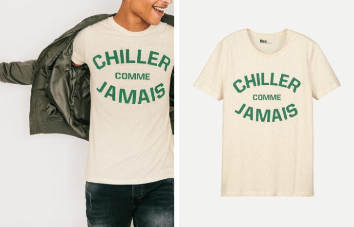 T-shirt Chiller comme jamais Bizzbee