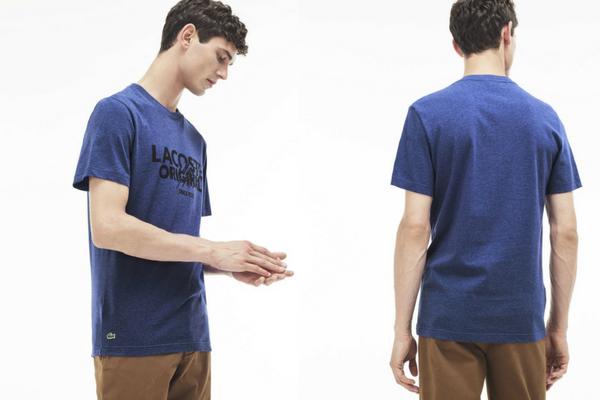 T-shirt col rond inscription Lacoste Original Lacoste