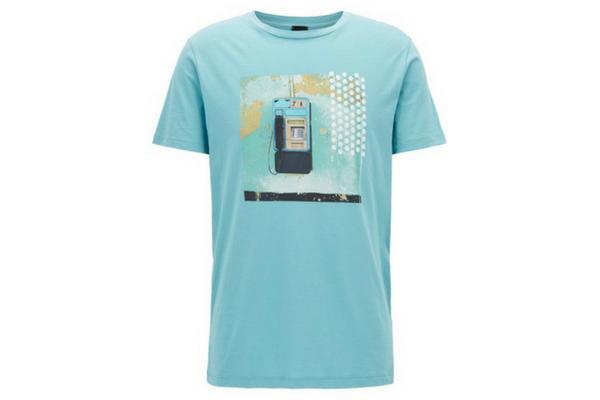 T-shirt turquoise Hugo Boss soldes été 2018
