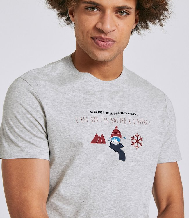 Tee shirt avec phrase humoristique jules montagne