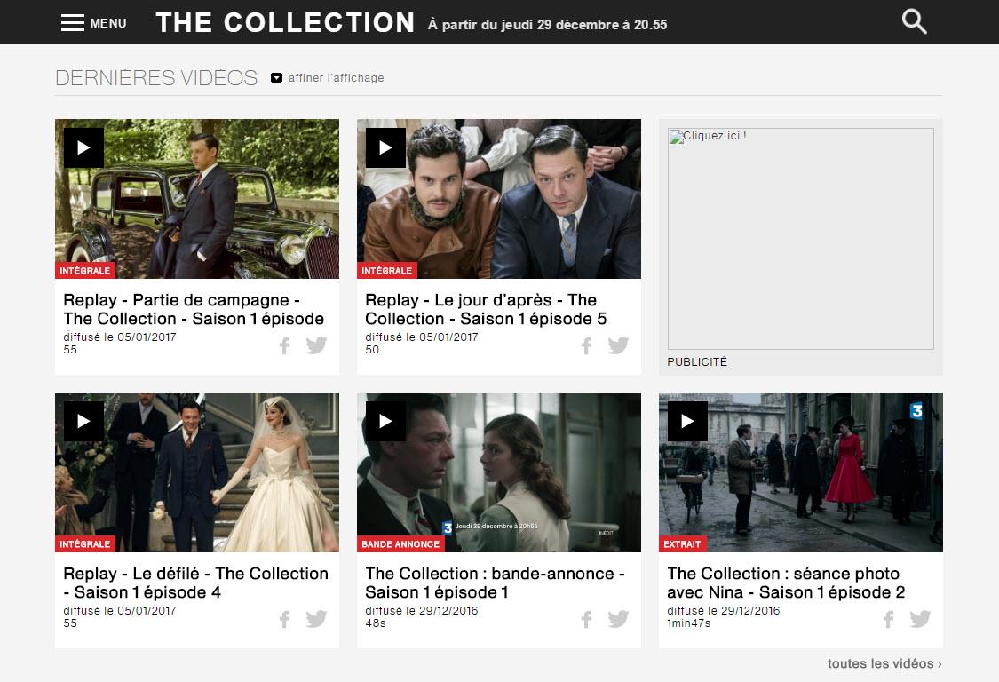 Monsieur-mode.com-France3 série TV The Collection-Episodes