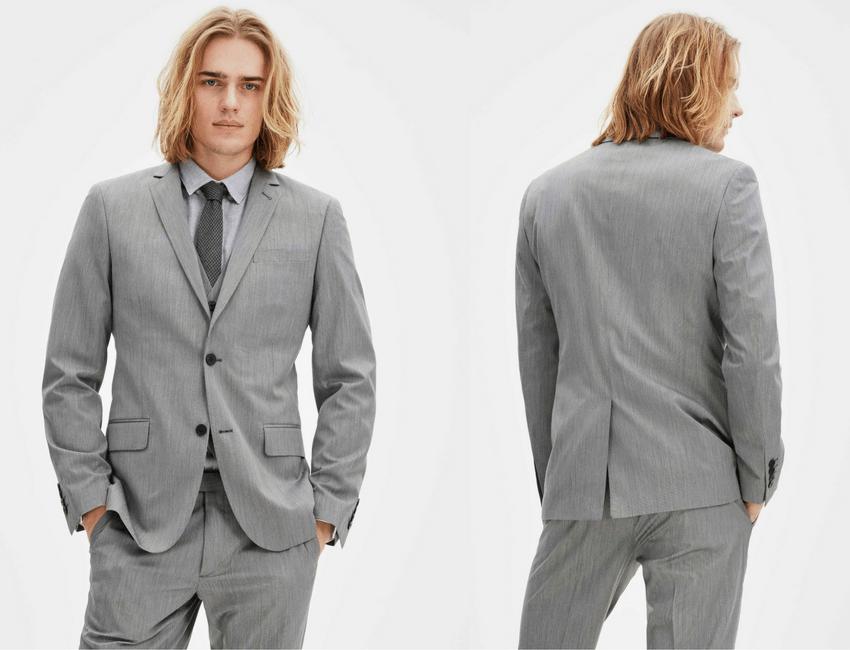 Veste de costume slim gris Celio