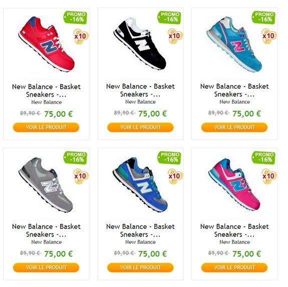 baskets new balance priceminister