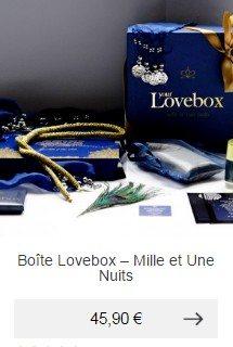 boite love box mille et une nuits idee cadeau homme romantique