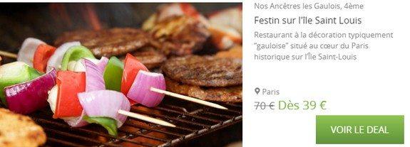 bon plan paris 4eme restaurant nos ancetres les gaulois