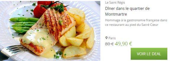 bon plan paris restaurant montmartre saint regis