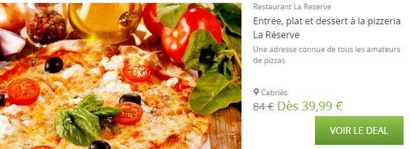 bon plan pizza restaurant marseille la reserve