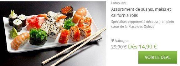 bon plan sushis aubagne