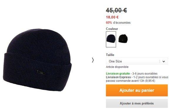 bonnet hugo boss bleu marine